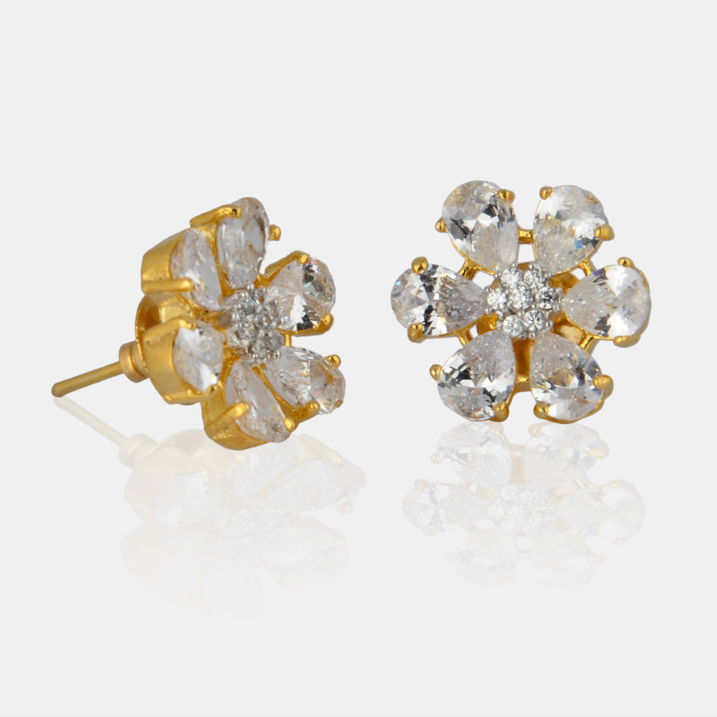 6c29b753c Classic Shimmers 9 to 5 American Diamond Studs - IndiHaute - Online  Designer Jewellery Store at low Prices. We Offer Wide Range of Indian  Wedding Jewellery.