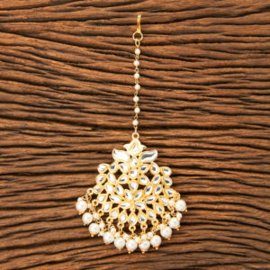Indo Western Classic Maang Tikka With Gold Plating for Women & Girls