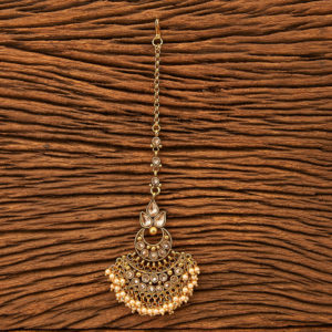 Small Pearls Drop Maang Tikka for Women & Girls