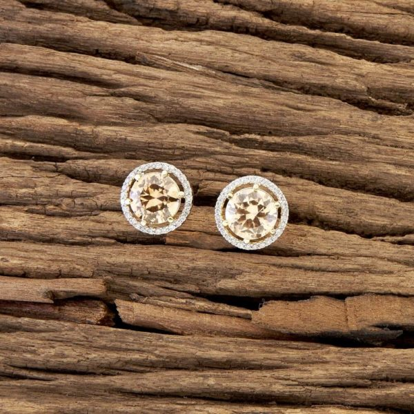 LCT Circle Shaped American Diamond Studs for Girls