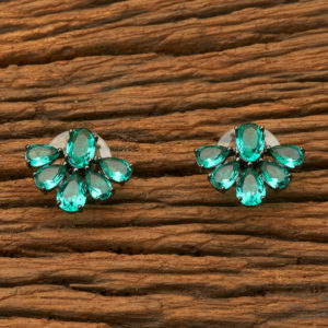 Green flakes Dual Plated Studs for Girls & Women